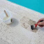 lepenie bazénového lemu a platní: penetrácia