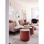 kombinovanie farieb v interiéri: obývačka v odtieňoch ružovej