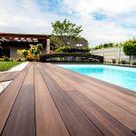 bazén so spevnenou plochou z drevoplastu