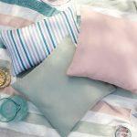 vankúše v pastelových farbách vhodné aj na pikniky