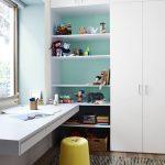 Detská izba vo farbách bielej, mätovej a žltej