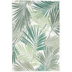 sisalový koberec s motívom palmových listov