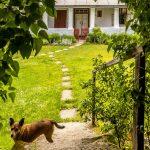 Pohľad na faru v Beluji zo záhrady