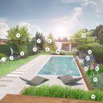 Dizajnérsky návrh výsadby v okolí bazéna