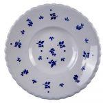 keramický tanier s ľudovými motívmi ručne vyrobený