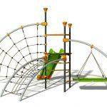 variabilné detské ihrisko do záhrady zložené z viacerých komponentov ako veža,sieť na lezenie, pavúčia sieť či šmýkačka