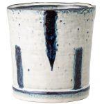 keramický kvetináč s modro-bielou glazúrou