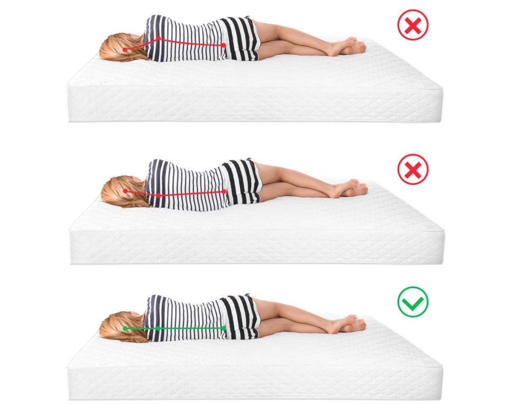 Správna poloha chrbtice na matraci