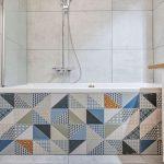 kúpeľňa s patchworkovým obkladom