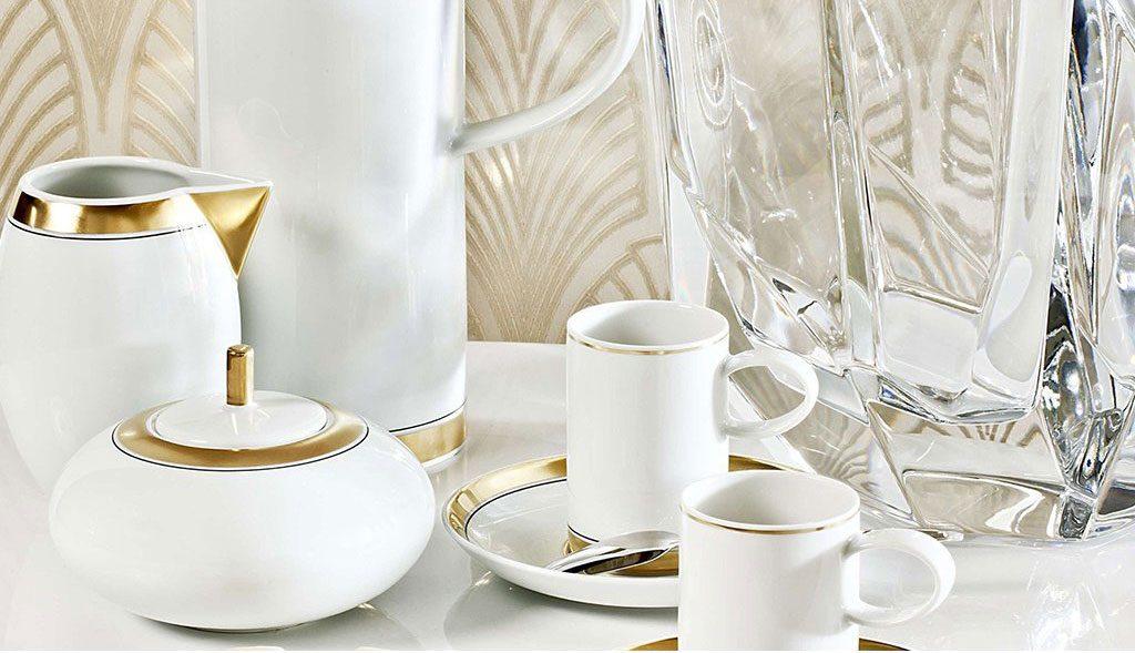 Bella Tavola jedálenský servis Vista Alegre z porcelánu, zdobený zlatom