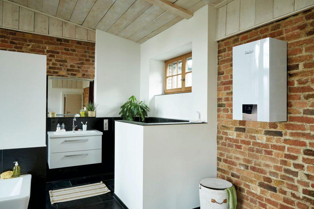 Plynový kondenzačný kotol pre vykurovanie pasívneho domu