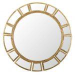 art déco zrkadlo so zlatým rámom
