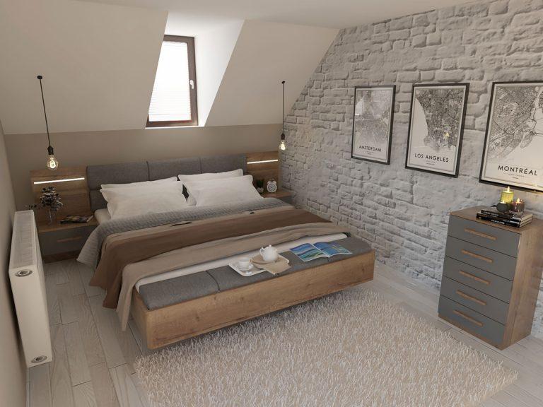 Dizajnérske riešenie: Spálňa pod šikmou strechou s vikierom