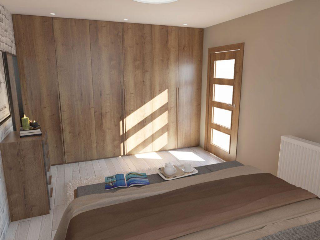 Roll doorová skriňa v podkrovnej spálni