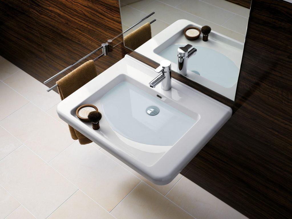Geberit Selnova Comfort umyvadlo hranate pre hygienu aj v sede