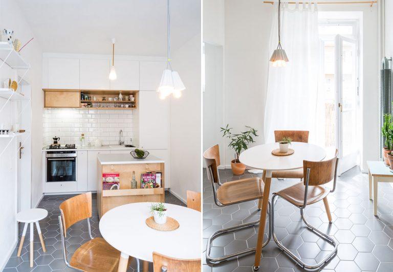 Dizajnérske riešenie kuchyne s multifunkčným mobilným ostrovčekom