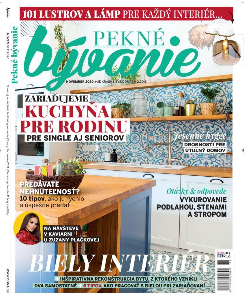 časopis Pekné bývanie november 2020