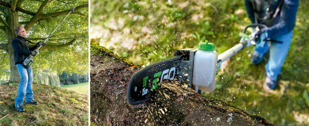Teleskopická píla vhodná na orezávanie konárov stromov