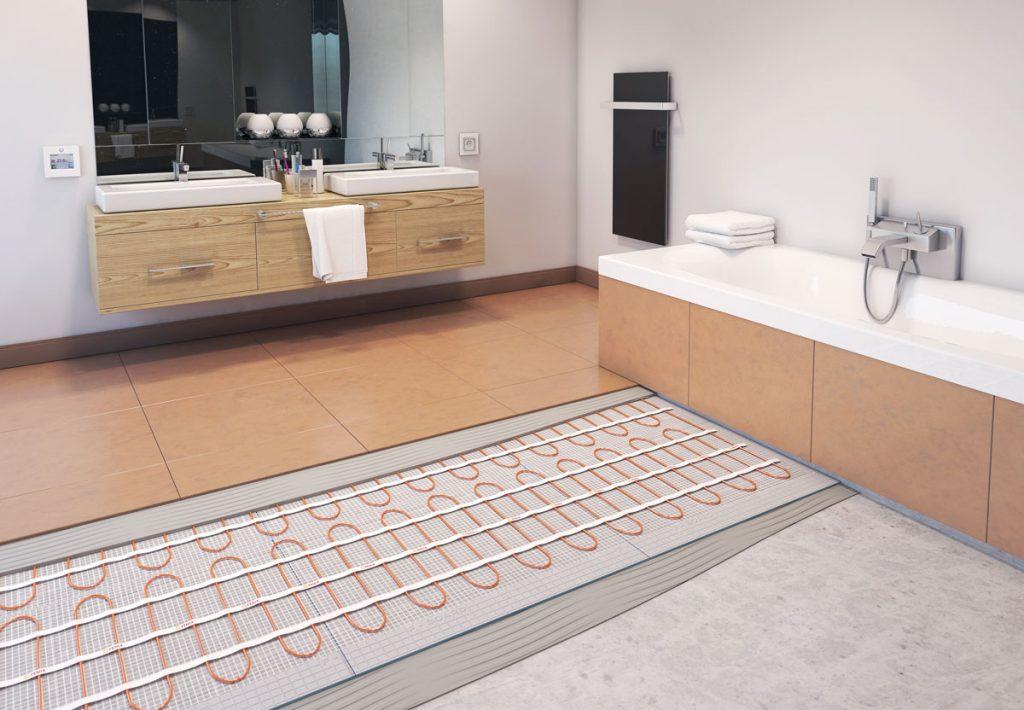 Podlahové vykurovanie v kúpeľni