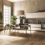 Moderná kuchyňa v zemitých odtieňoch
