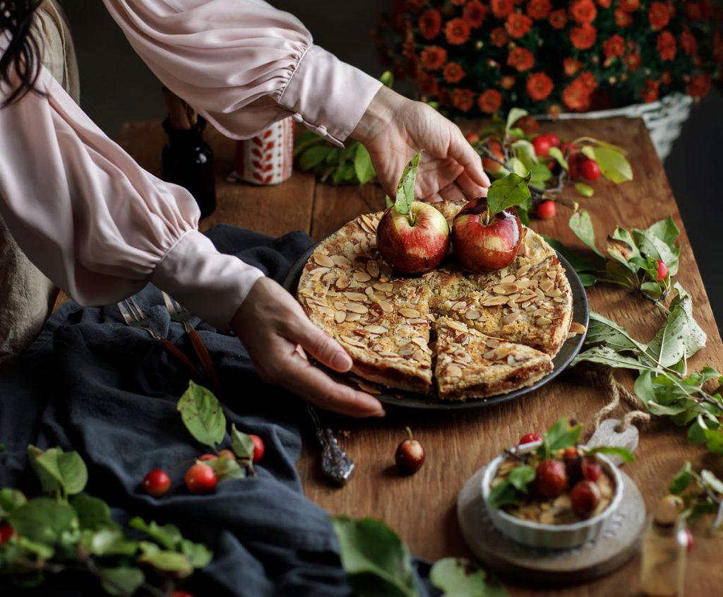 recept na jablkový koláč sovsenými vločkami