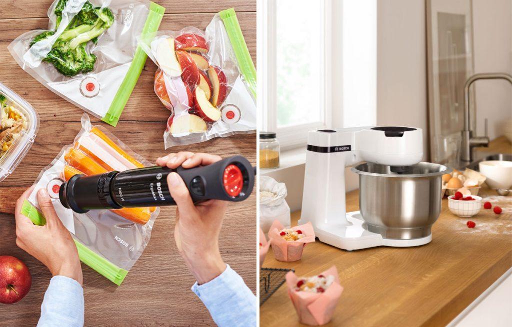 Vákuovací systém a kompaktný kuchynský robot od Bosh
