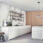 Ako zariadiť malú kuchyňu pre jednu osobu: moderná kuchyňa s nábytkom bez úchytiek