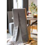 Sviatočný sivý návlek na stoličku