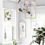 botanický štýl v interiéri: Herbár v prehľadných rámoch
