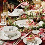 Vianočné prestieranie s motívom lesa a zvierat