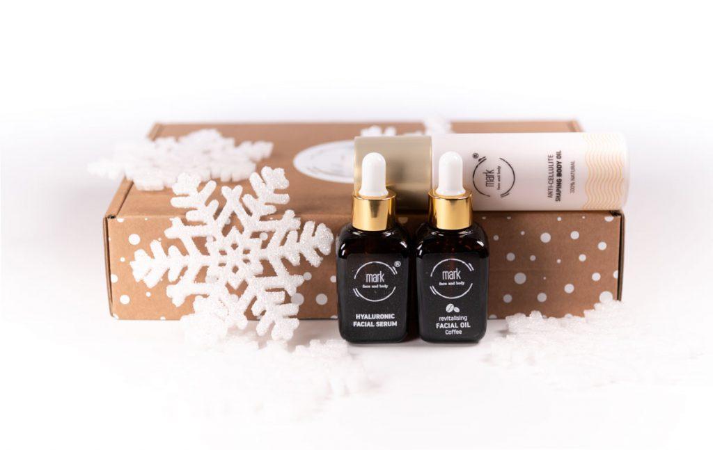 Slovenská kozmetika MARK face and body: sérum s kyselinou hyalurónovou, pleťový olej a zoštíhľujúci anticelulitídny telový olej