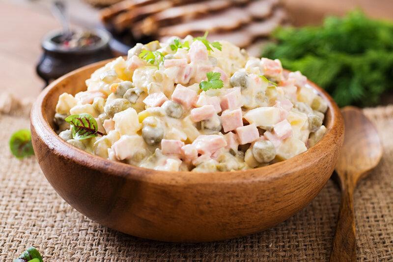 Recept na vianočný zemiakový šalát pre diabetikov