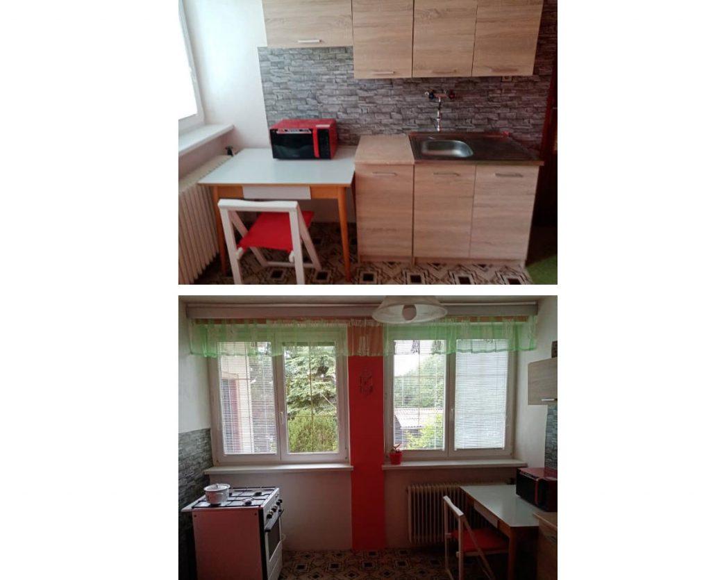 Priechodná kuchyňa pred rekonštrukciou