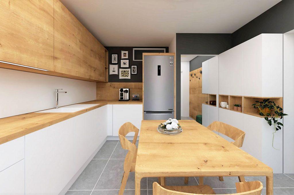 Aj v byte, ktorý má pod 40 m2, sa môže splniť sen o veľkej kuchyni