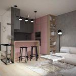 Otvorený priestor kuchyne spojenej s obývačkou