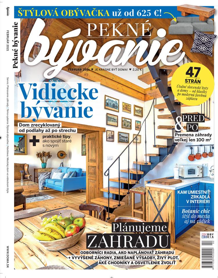 časopis Pekné bývanie február 2021