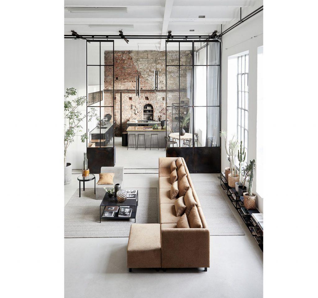 šesť trendov pre obývačky: v industriálnom štýle