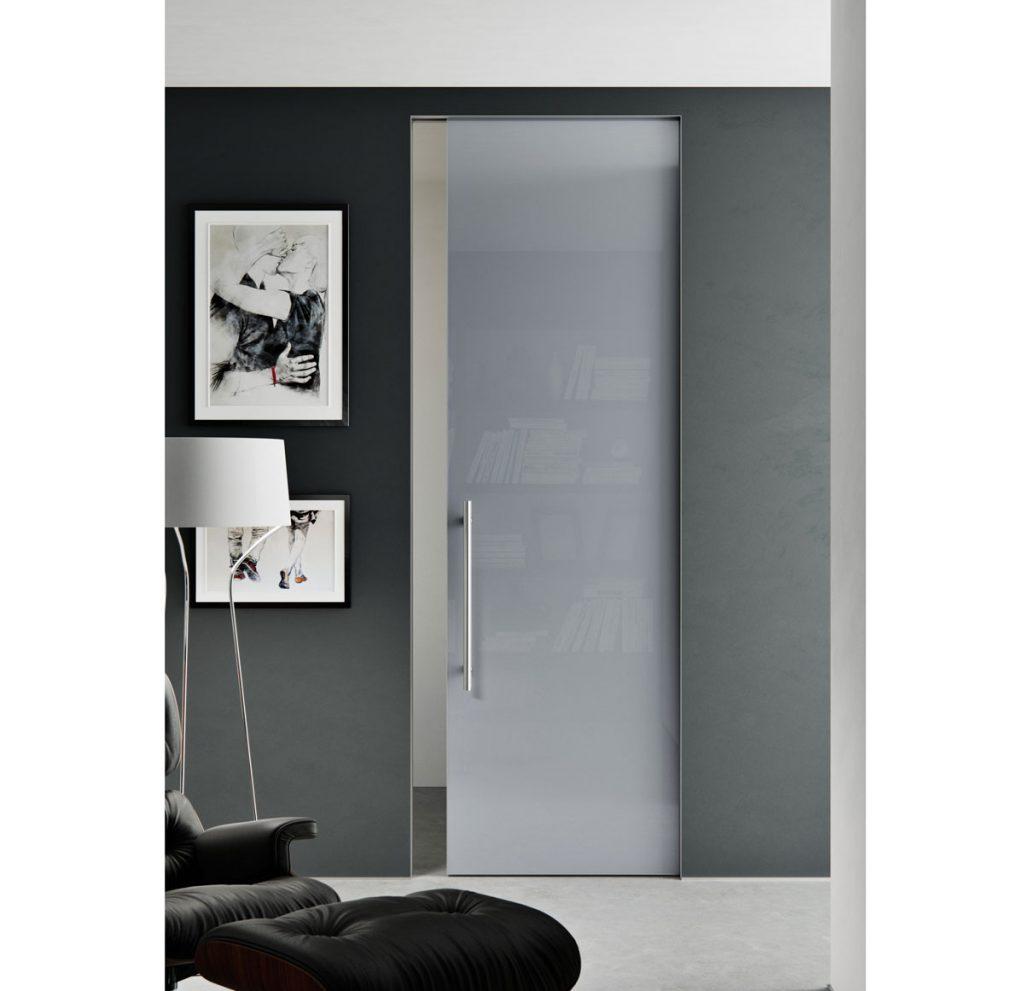 Dvere Master Door so skrytou zárubňou AKTIVE, lakované sklo