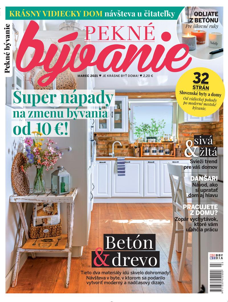 časopis Pekné bývanie marec 2021