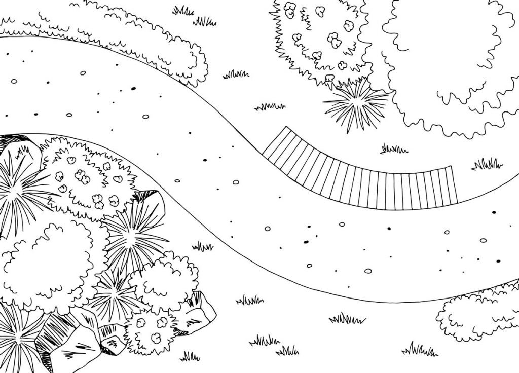 Ako na plánovanie záhrady: náčrt záhrady