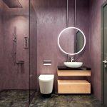Farebné interiérové trendy: Levanduľová stena v kúpeľni