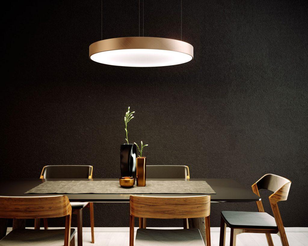 plnospektrálne osvetlenie: Osvetlenie nad jedálenským stolom