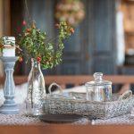 Prestretý stôl na terase