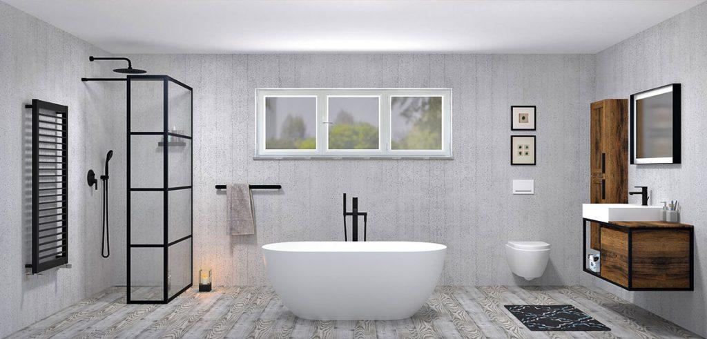 BLACK DESIGN by Sapho: Čierna farba modernej kúpeľni jednoducho pristane