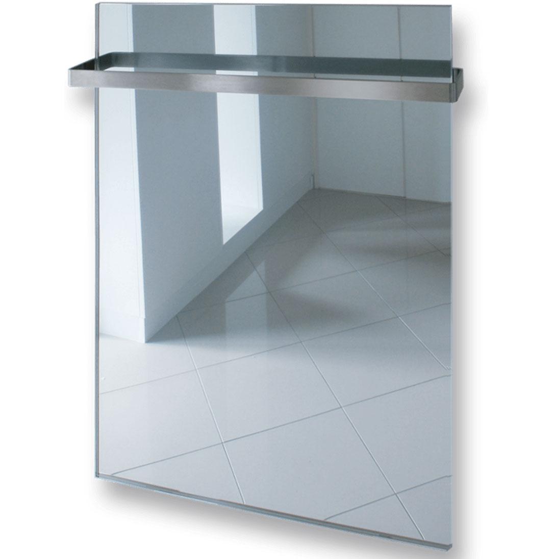 tipy na zmenu v kúpeľni pre menší aj väčší rozpočet: vykurovací panel slúžiaci aj ako zrkadlo a vešiak