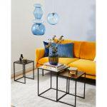 Farebné interiérové trendy: Citrónová farba na sedačke