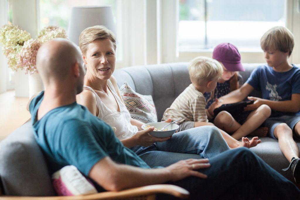 ekologické vykurovanie: Frauke s manželom a tromi deťmi