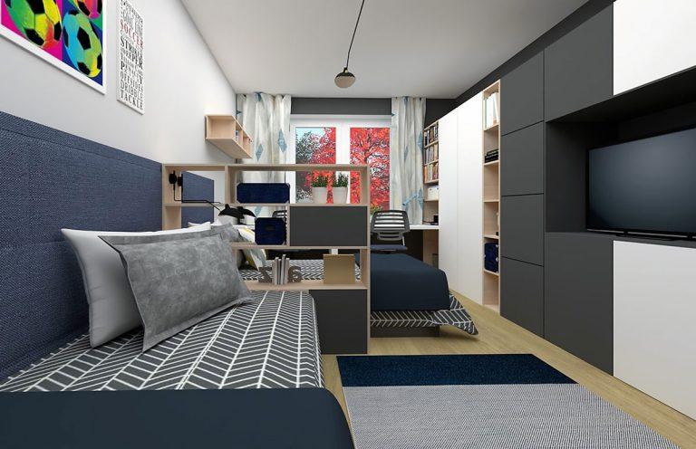 Ako vytvoriť v panelákovej izbe vlastný priestor dvom dospievajúcim chlapcom