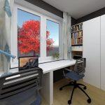 Dizajnérsky návrh detskej izby pre dvoch chlapcov s úložnými priestormi a pracovným stolom