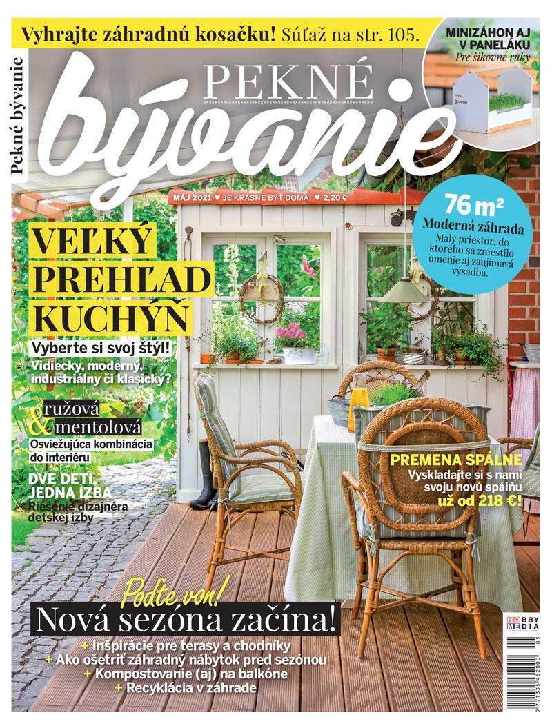 časopis Pekné bývanie máj 2021